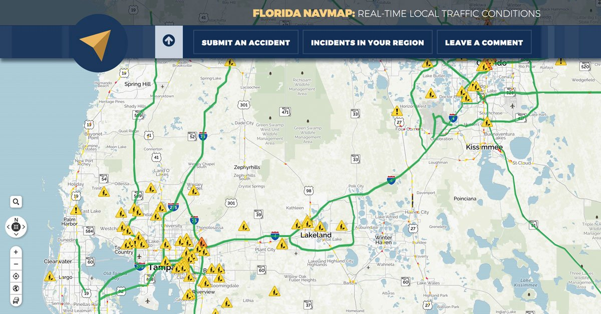 Florida Navmap Real Time Local Traffic Conditions